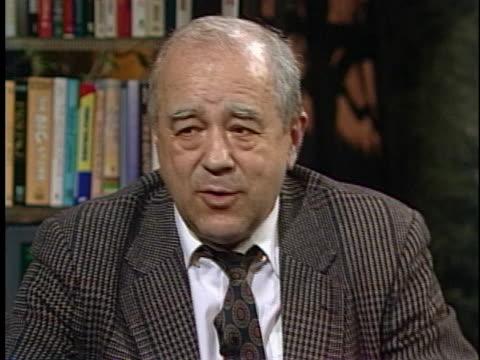 soviet journalist vitaly korotich talks about disagreements between mikhail gorbachev and boris yeltsin regarding changes in the soviet union. - boris yeltsin stock videos & royalty-free footage