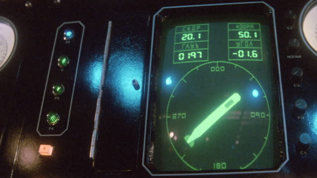 a soviet navy submarine control panel points the direction of a compass. - russia stock videos & royalty-free footage