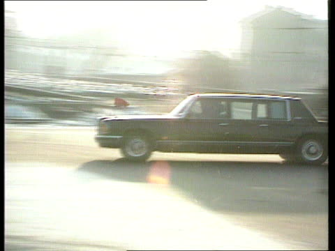Soviet President Mikhail Gorbachev fighting to stop USSR and his job from disappearing USSR Moscow Soviet President Mikhail Gorbachev's limo along RL...