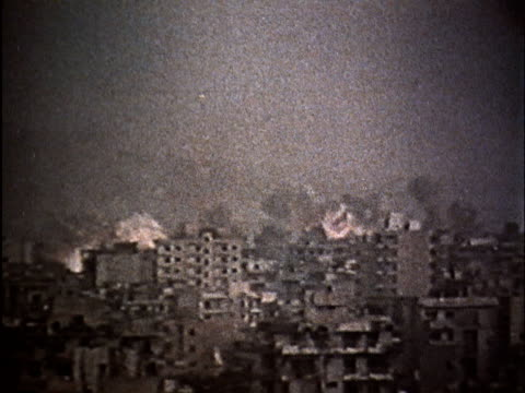 soviet propaganda dealing with israeli aggression in lebanon/ bombing of beirut/ injured civilians - civilian stock videos & royalty-free footage