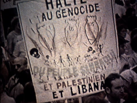 soviet propaganda dealing with israeli aggression in lebanon/ anti-isreal protests - palestine liberation organisation stock videos & royalty-free footage