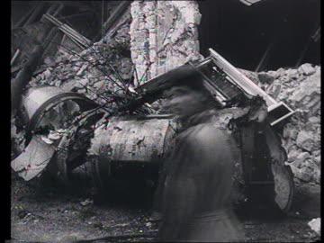 soviet propaganda documentary film. soviet intervention in budapest , guerrilla warfare : street scenes in damaged city, guerilla, fights, people... - 1956 stock videos & royalty-free footage