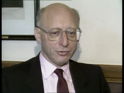 soviet spy blackmail allegations; 5.40pm: england: westminster: int gerald kaufman mp interview sot - gerald kaufman stock videos & royalty-free footage