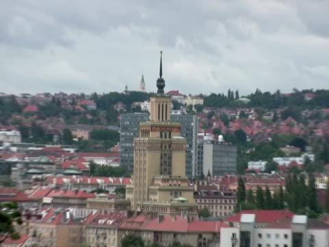 di tipo sovietico stalin architettura, zoom out (zoom indietro - luogo d'interesse locale video stock e b–roll