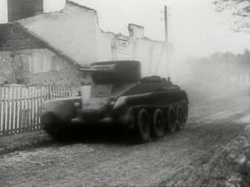 soviet tanks on move during soviet-german invasion of poland in 1939 - poland stock videos & royalty-free footage