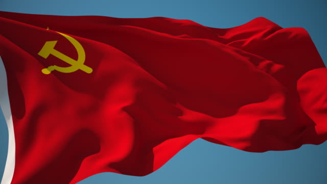 4K Soviet Union Flag - Loopable