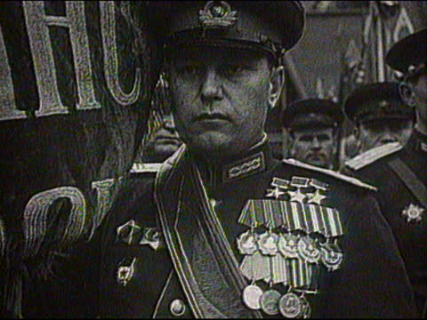 soviet wwii fighter ace pilot alexander pokryshkin at military parade in moscow - pilot stock videos & royalty-free footage