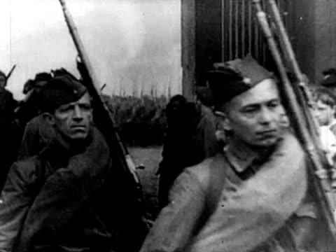 vídeos y material grabado en eventos de stock de soviet wwii infantry troops - 1941