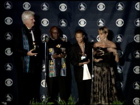stockvideo's en b-roll-footage met best traditional world music album at the 2007 grammy awards press room at staples center in los angeles california on february 11 2007 - gospelmuziek