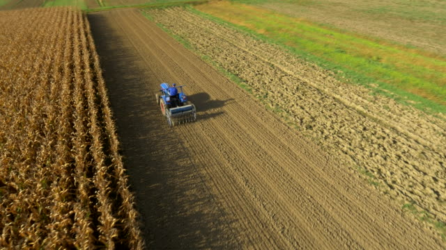 AERIAL Sowing With The Seed Drill