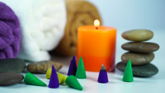 spa and wellness setting - lastone therapy stock videos & royalty-free footage