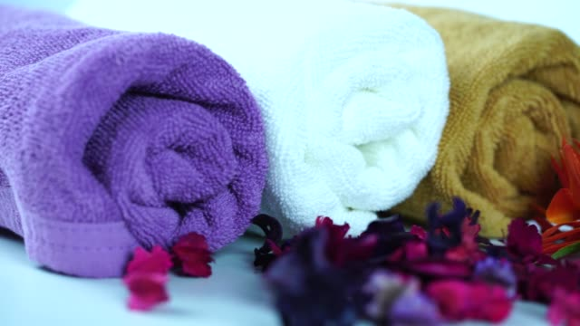 pan:spa and wellness setting - lastone therapy stock videos & royalty-free footage
