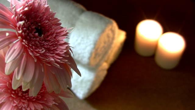 vidéos et rushes de matériaux de spa - thérapie du bien être