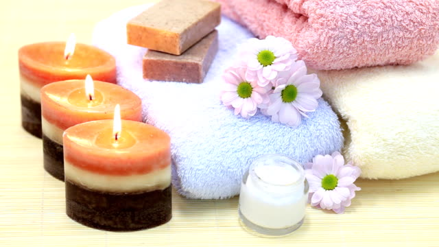 spa treatment. - towel stock videos & royalty-free footage