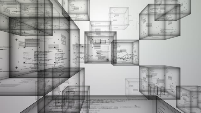 raum cube-weiß - endlos film stock-videos und b-roll-filmmaterial
