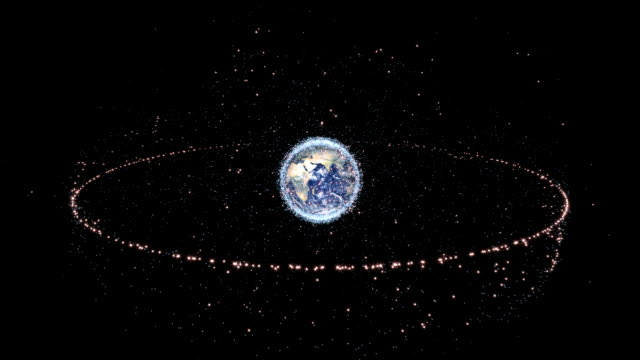 """space junk and satellites, animation"" - orbiting stock videos & royalty-free footage"