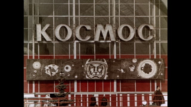 space pavilion at the national achievements exhibition in moscow - 1967 stock videos & royalty-free footage