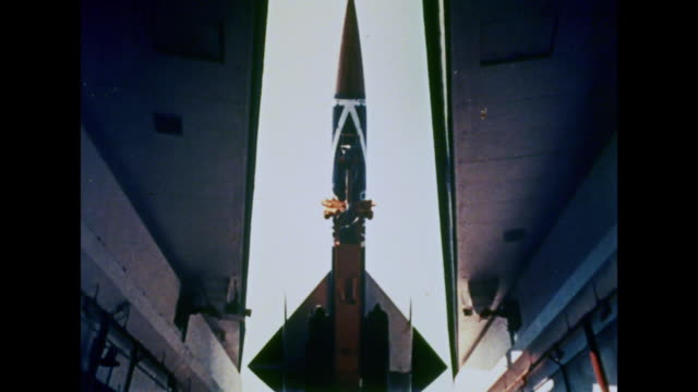 1964 a space rocket moves into position - 1964 stock videos and b-roll footage