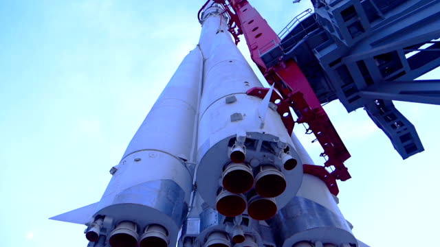 space rocket ready for launch - rocket stock videos & royalty-free footage