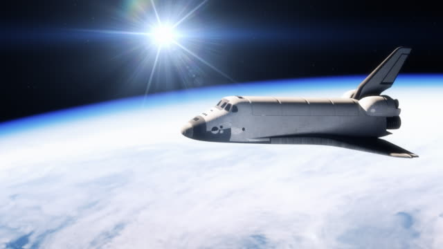 vidéos et rushes de space shuttle climbing to orbit around earth. - exploration de l'espace