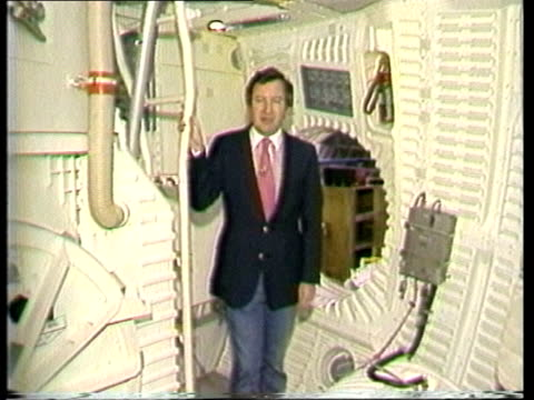cape canaveral ls shuttle on pad cms tilt down fuselage of shuttle showing bay doors ms nose and cabin texas huston johnson space centre station out... - bay window stock videos & royalty-free footage