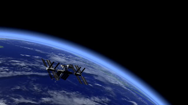 Space station and earth