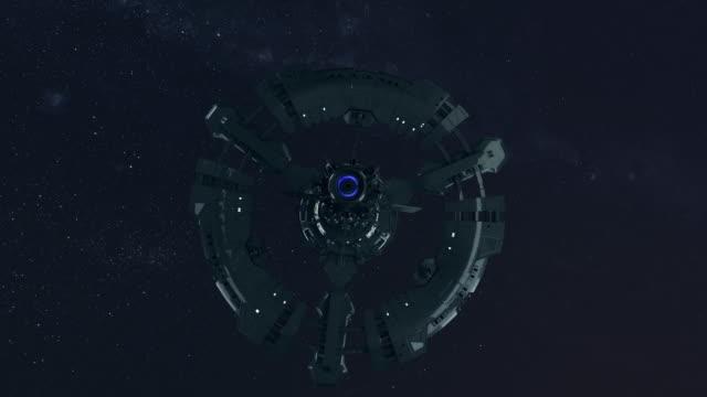 space station exploring cosmos. - spaceship stock videos & royalty-free footage