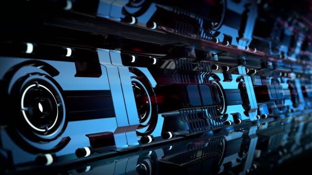 宇宙ステーション未来的なブルー4kアニメーションループ可能 - 宇宙船点の映像素材/bロール