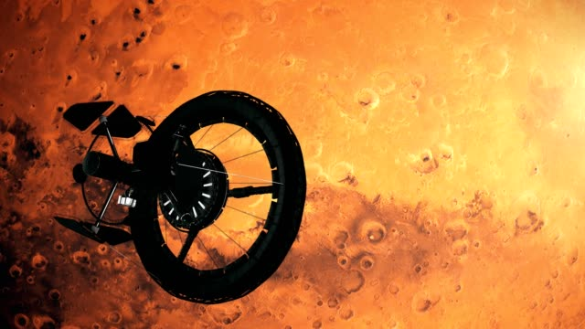 space station orbiting mars - astronaut stock videos & royalty-free footage