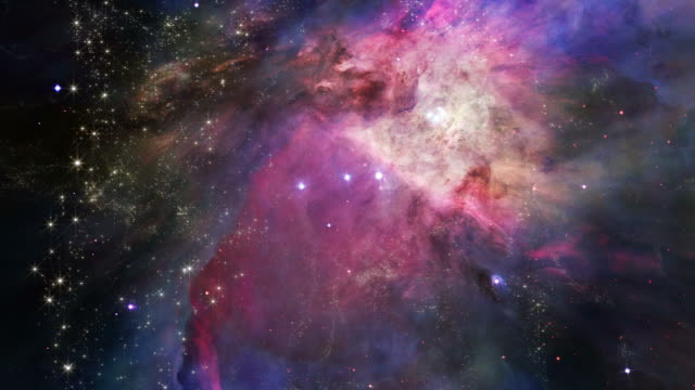 Space Travel To The Orion's Belt Nebula