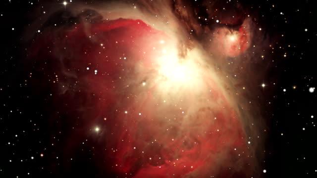 スペースの旅行に、オリオン大星雲 - nebula点の映像素材/bロール