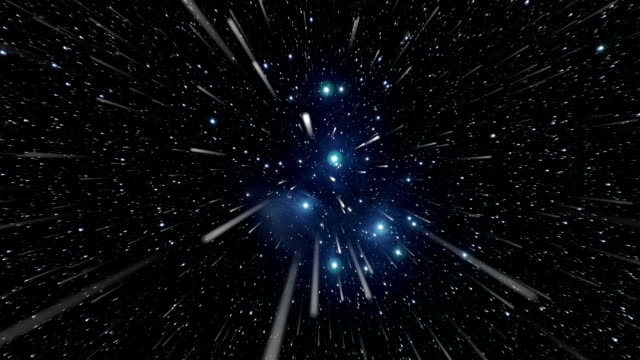 space travel towards the pleiades - space exploration stock videos & royalty-free footage