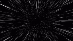 Space warp. Light Speed animation