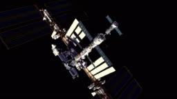 4K. Spacecraft Docking To International Space Station. Luma Channel.