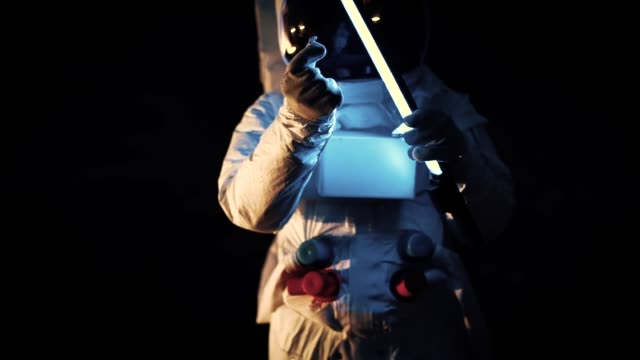 spaceman doing research - zero gravity stock videos & royalty-free footage