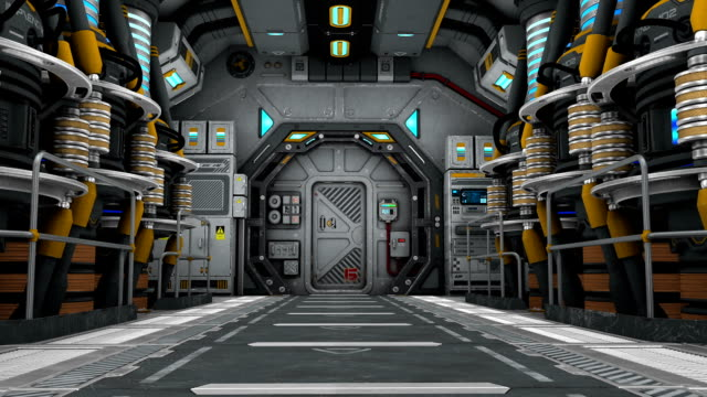 stockvideo's en b-roll-footage met ruimteschip machinekamer - machinekamer