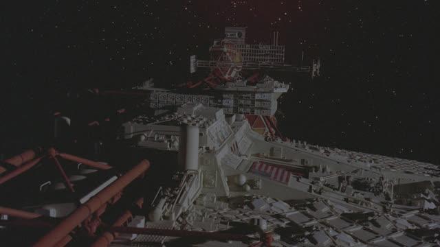 spaceship floats thru space - futuristic stock videos & royalty-free footage