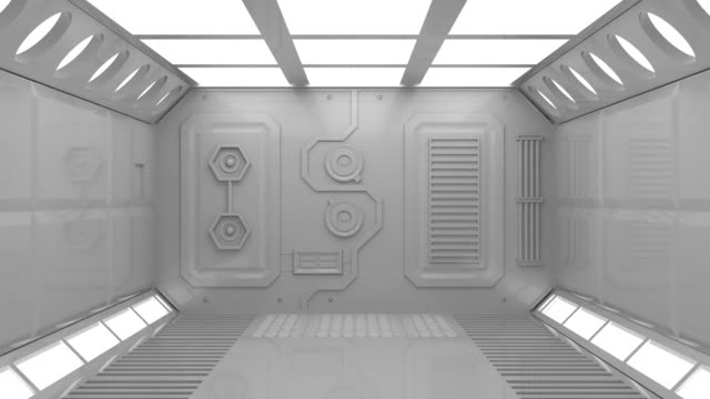 vídeos y material grabado en eventos de stock de nave espacial de apertura de puerta - nave espacial