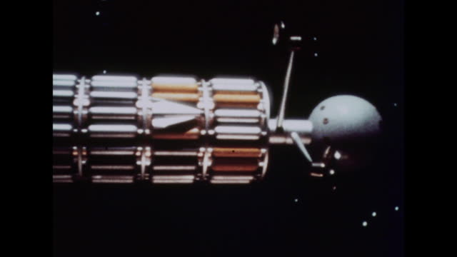 1964 a spaceship travels toward earth - science fiction film stock videos & royalty-free footage