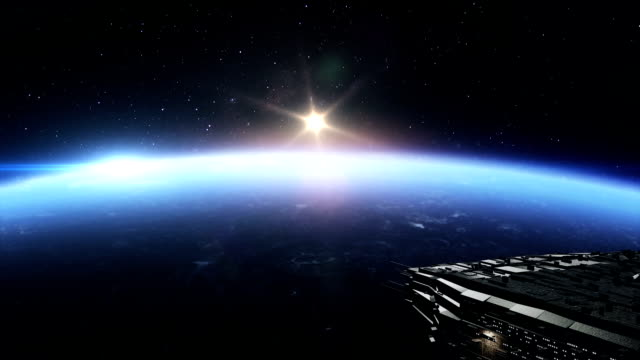 spaceships over the planet earth - spaceship stock videos & royalty-free footage