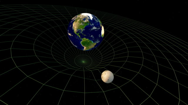 spacetime, theory of relativity, earth momentum - e=mc2 stock videos and b-roll footage