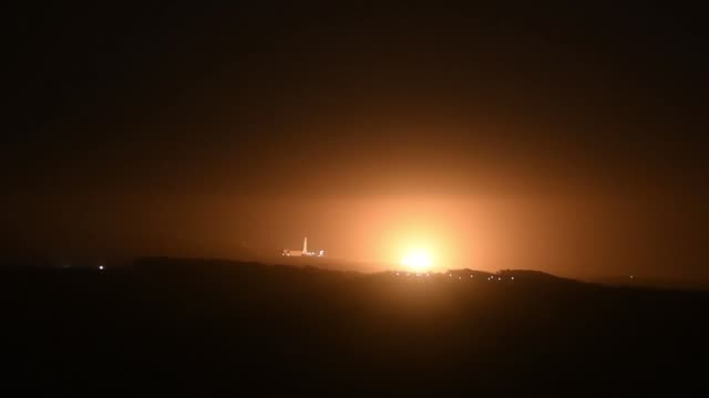 spacex falcon 9 rocket carrying the saocom 1a satellite launched from vandenberg air force base, california on 7 october 2018. spacex completed the... - air force stock videos & royalty-free footage