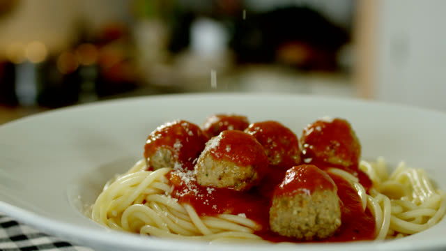 spaghetti and meatballs - meatballs stock videos & royalty-free footage