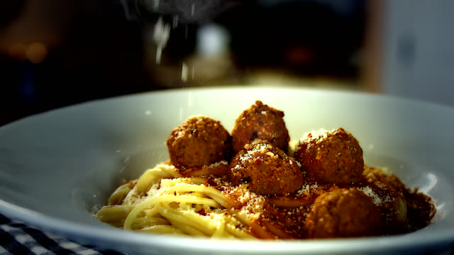 spaghetti and meatballs - parmesan stock videos & royalty-free footage