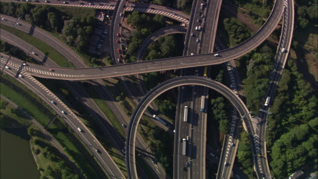 spaghetti junction - motorway junction stock videos & royalty-free footage