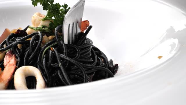 spaghetti sea - pasta stock videos & royalty-free footage