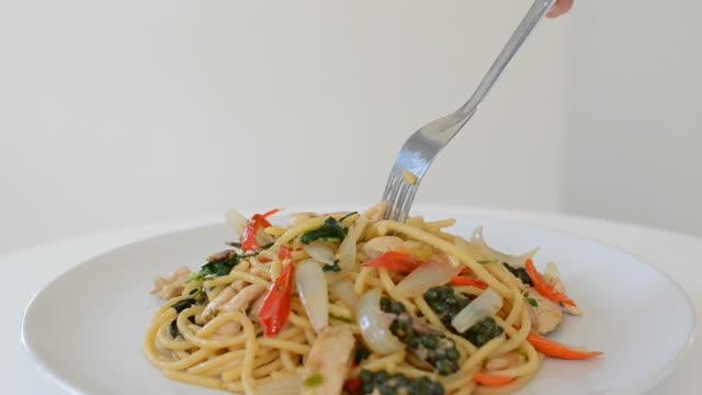 Meeresfrüchte-Spaghetti Nudeln