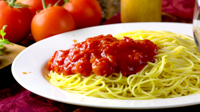 spaghetti - sauce stock videos & royalty-free footage