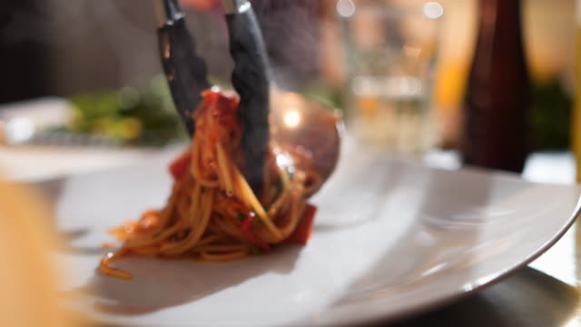 spaghetti with tomato sauce - parmesan stock videos & royalty-free footage