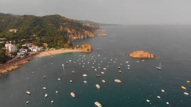 spain aerials - カタルーニャ州点の映像素材/bロール